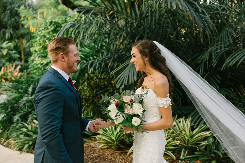 Jennifer Matteo Event Planning – Sarasota wedding planner – Sarasota luxury wedding planner – Sarasota weddings- Sarasota luxury weddings – Marie Selby Botanical Gardens – Marie Selby Gardens – Marie Selby Gardens wedding - bride and groom