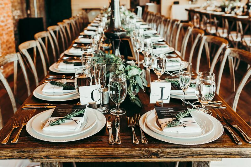 Tampa Wedding – Rooftop 220 – Armature Works- Jennifer Matteo Event Planning – Armature Works Wedding – Tampa wedding planner – Tampa LGBTQ wedding - industrial wedding reception