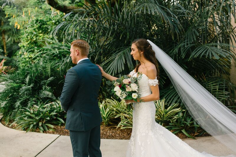 Jennifer Matteo Event Planning – Sarasota wedding planner – Sarasota luxury wedding planner – Sarasota weddings- Sarasota luxury weddings – Marie Selby Botanical Gardens – Marie Selby Gardens – Marie Selby Gardens wedding - first look