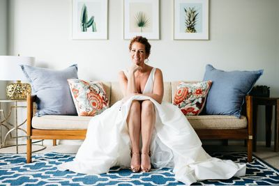 Sarasota wedding - Sarasota bride - Jennifer Matteo Event Planning - Sarasota Wedding Planner - Badgley Mischka Shoes - BHLDN