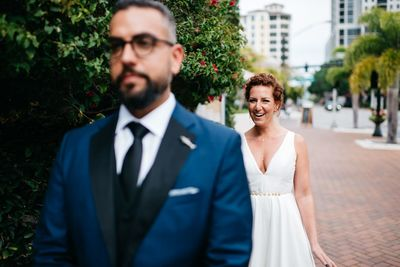Sarasota wedding - First Look - Jennifer Matteo Event Planning - Sarasota Wedding Planner